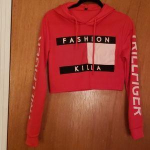 Fashion Killa Crop Top Hoodie Sweater Size Medium